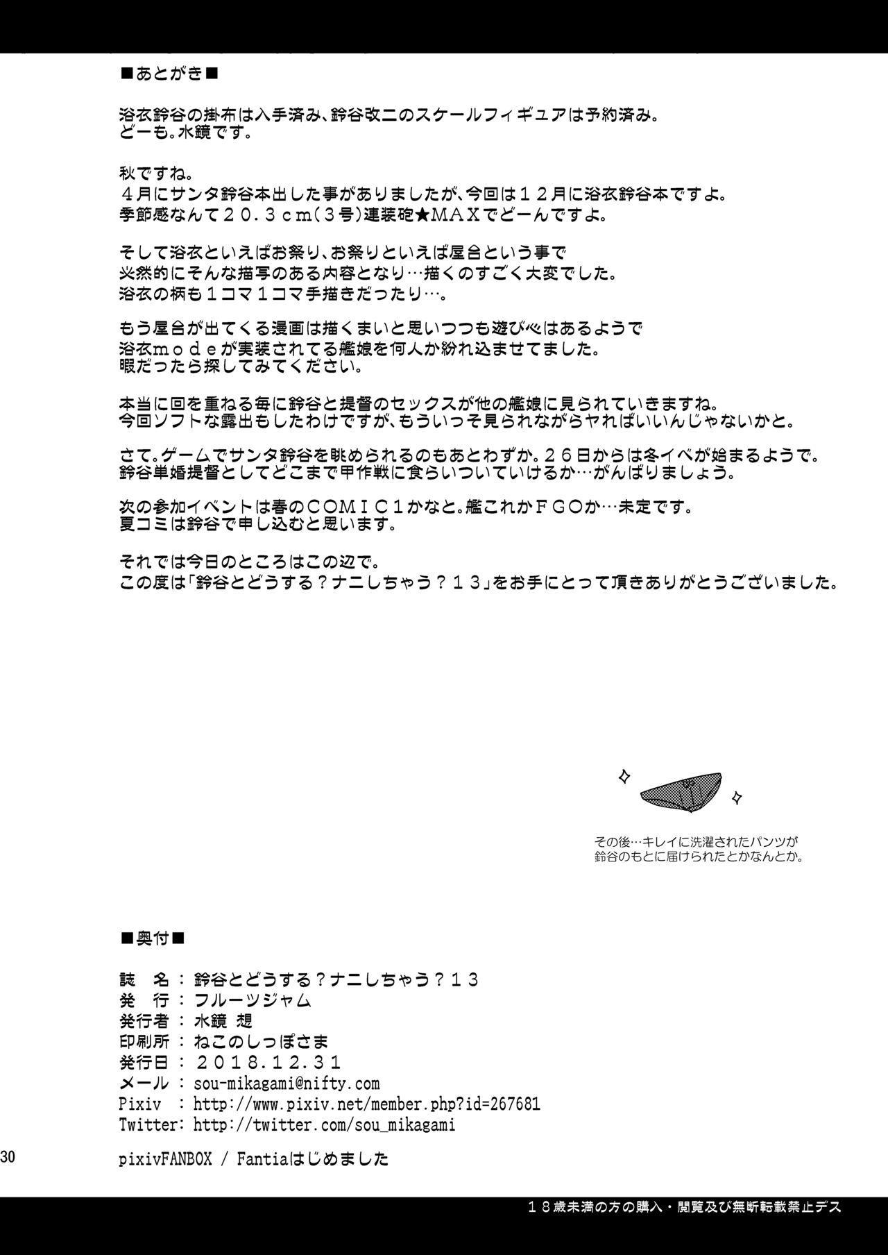 Suzuya to Dousuru? Nani Shichau? 13 28