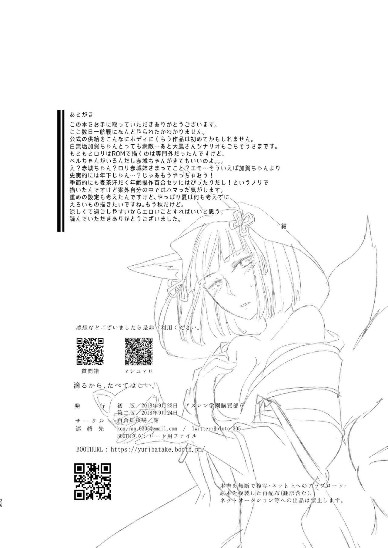 Shitataru kara, Tabete Hoshii. 24