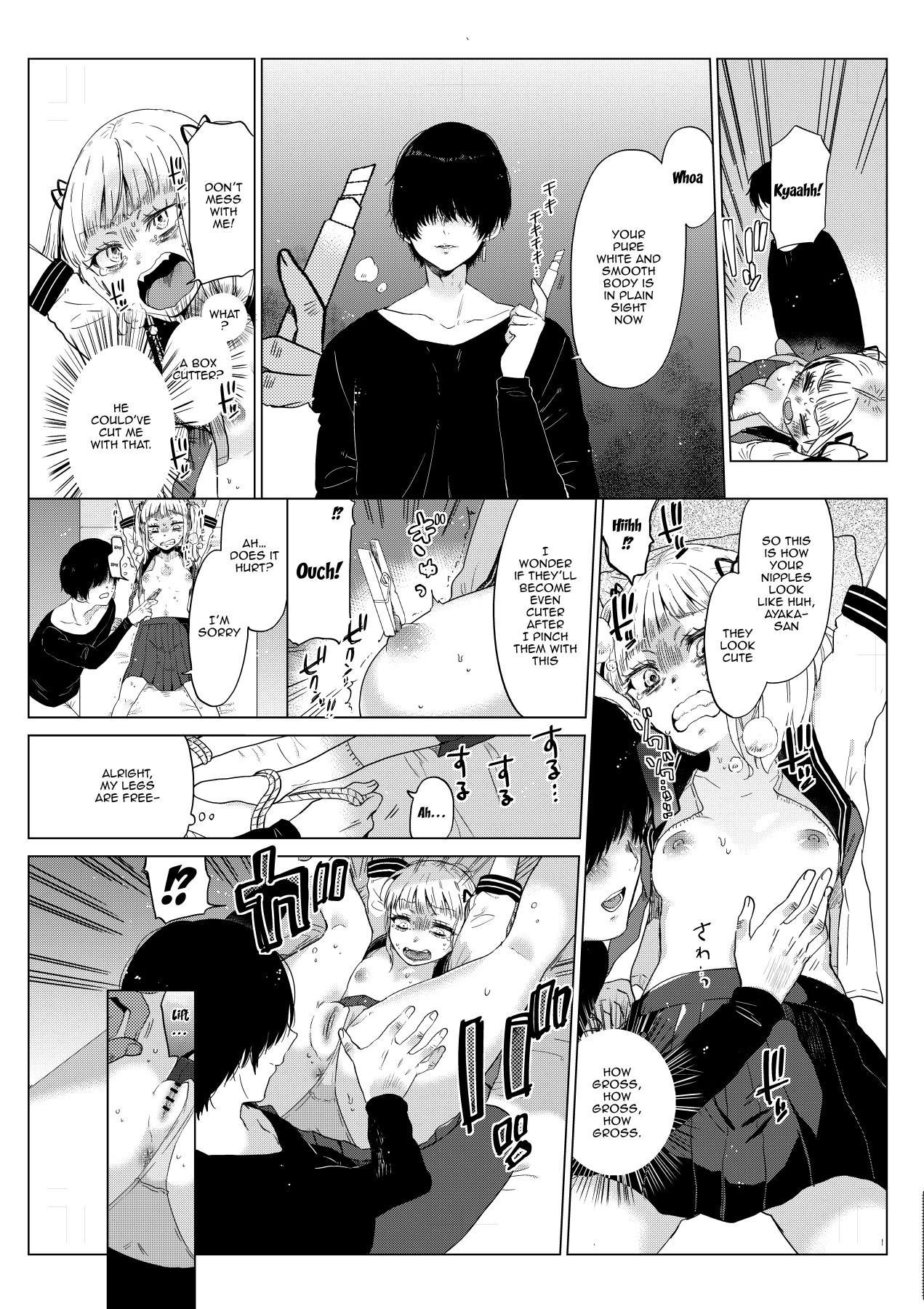 [Circle Mitsuhagane (Menu.)] Hairanhi no Mesugaki JC Ayaka-chan ~Kankin → Tanetsuke Rape no Matsuro~ | Schoolgirl Aya-chan's Ovulation Day ~Confinement Leads To Fucking Raw~ [English] {Doujins.com} 5