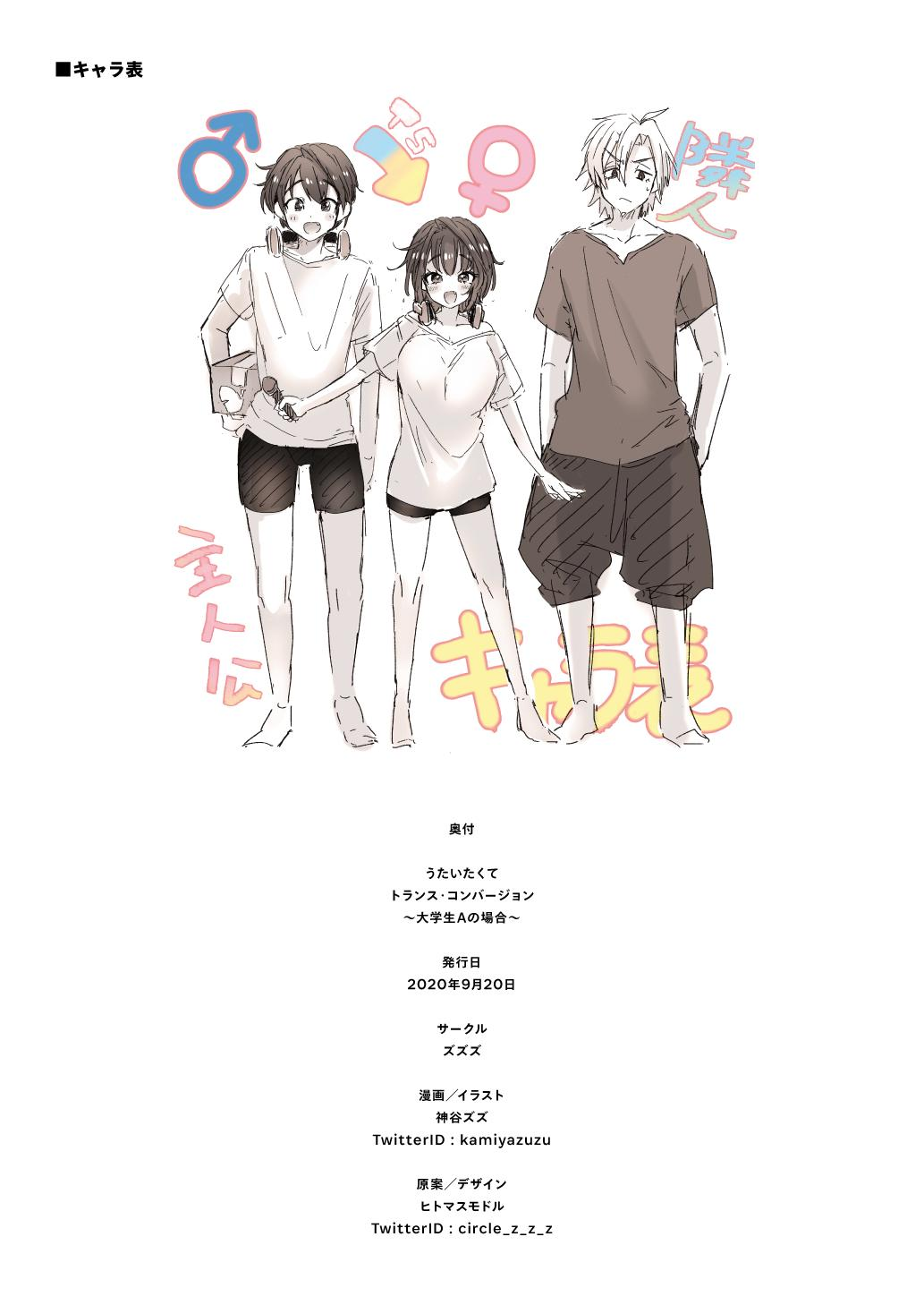 "[ZUZUZU (Kamiya Zuzu)] Utai Tekute ~Trans Conversion ""Daigakusei A no Baai""~ | I Wanted to Sing ~ Trans Conversion ""The Case of College Student A""~ [English] [WisdomWapiti] [Digital] 38"