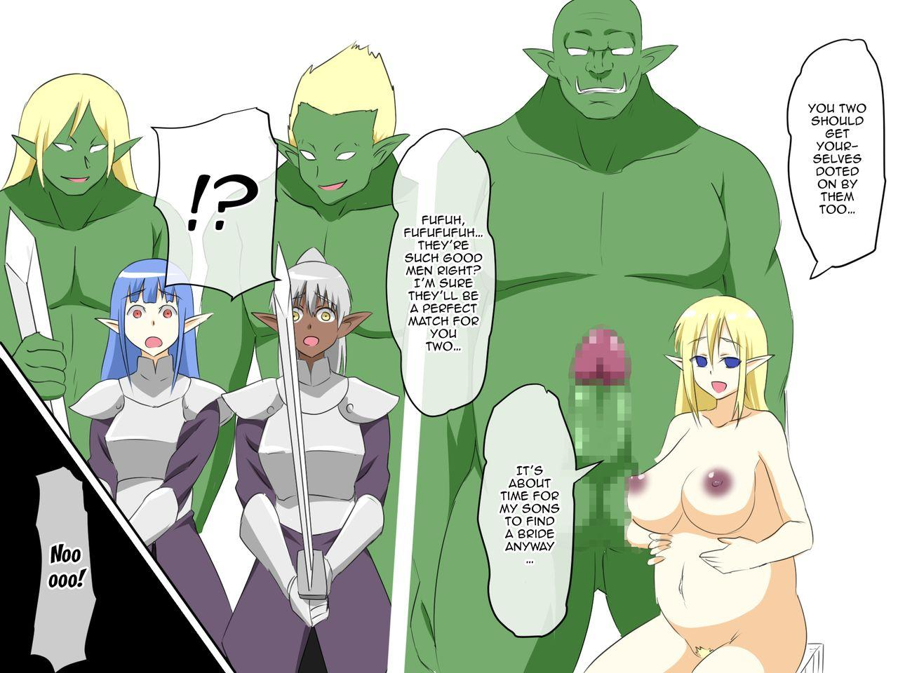 Haiboku Elf no Onna Kishi Orc Ryoujoku, Soshite...   A Female Elf Knight Gets Assaulted By An Orc, And Then... 38