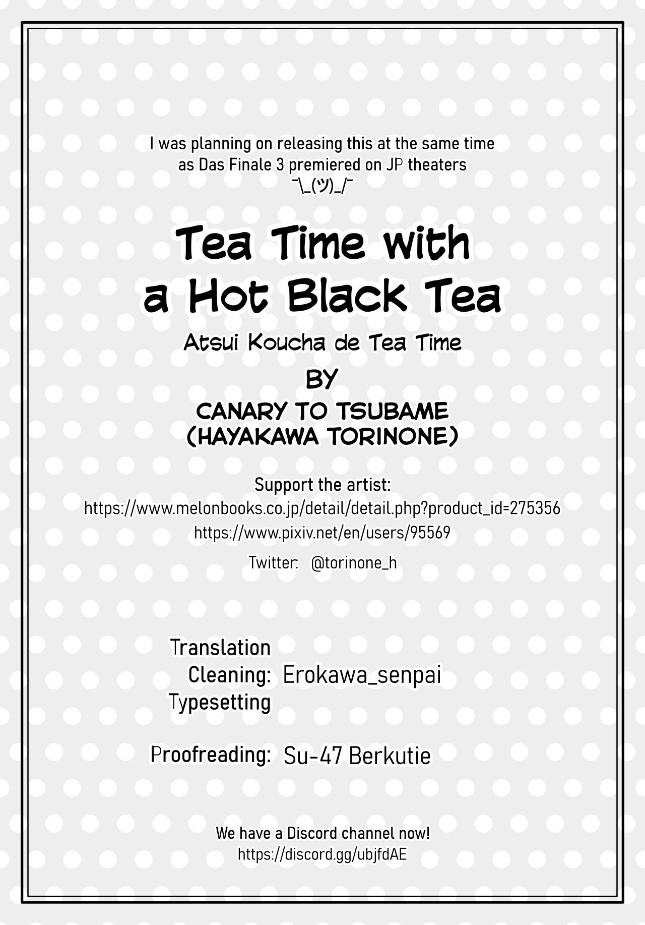 Atsui Koucha de Tea Time   Tea Time with a Hot Black Tea 26