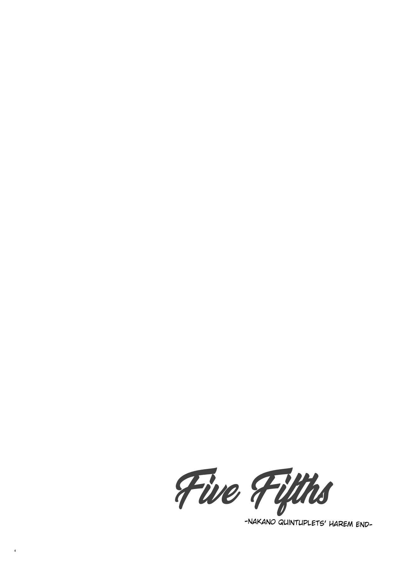 [Samurai Ninja GREENTEA] Gobun no Go -Nakano-ke Itsutsugo Harem END-   Five Fifths -Nakano Quintuplets' Harem END- (Gotoubun no Hanayome) [English] [syraku] [Digital] 2