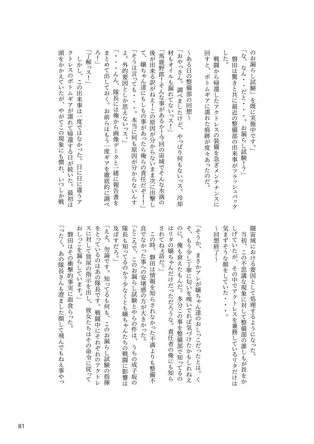 ア○スギア総合スカトロアンソロジー アクトレス排泄実態調査任務~スカポためるっすか!?~ 80