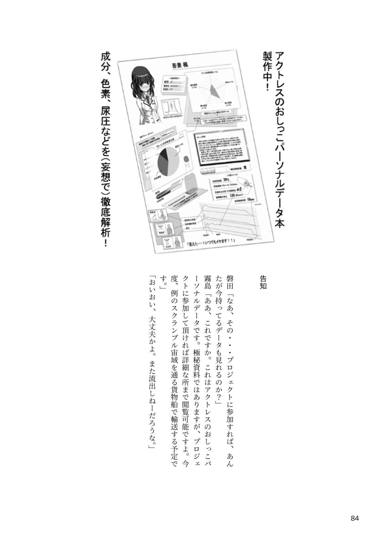 ア○スギア総合スカトロアンソロジー アクトレス排泄実態調査任務~スカポためるっすか!?~ 83