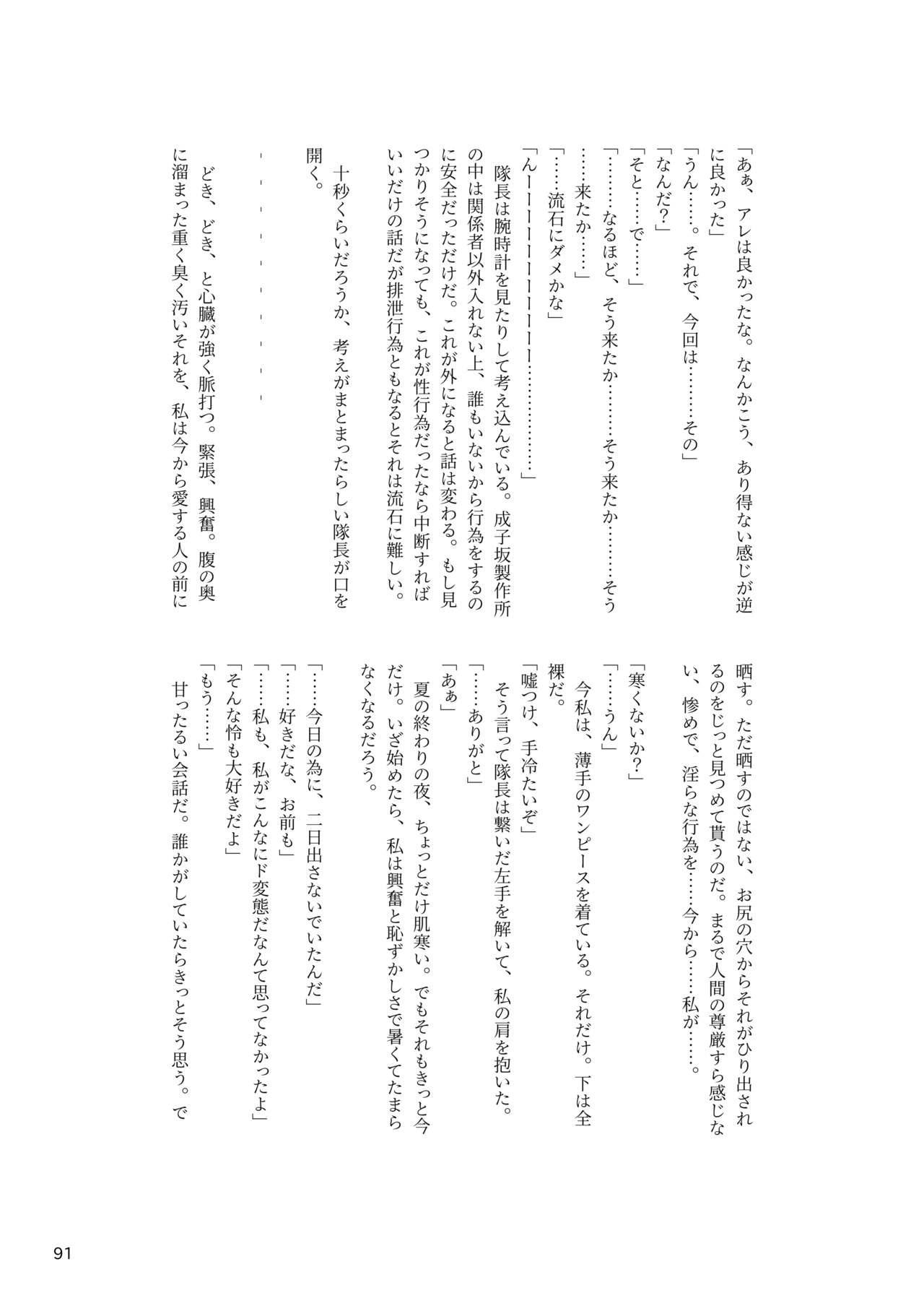 ア○スギア総合スカトロアンソロジー アクトレス排泄実態調査任務~スカポためるっすか!?~ 90