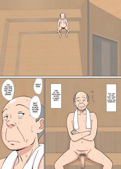 Iinari Tomodachi Mama o Sauna de Chichi Ijiri   Groping My Friend's Mom's Tits at the Sauna 3