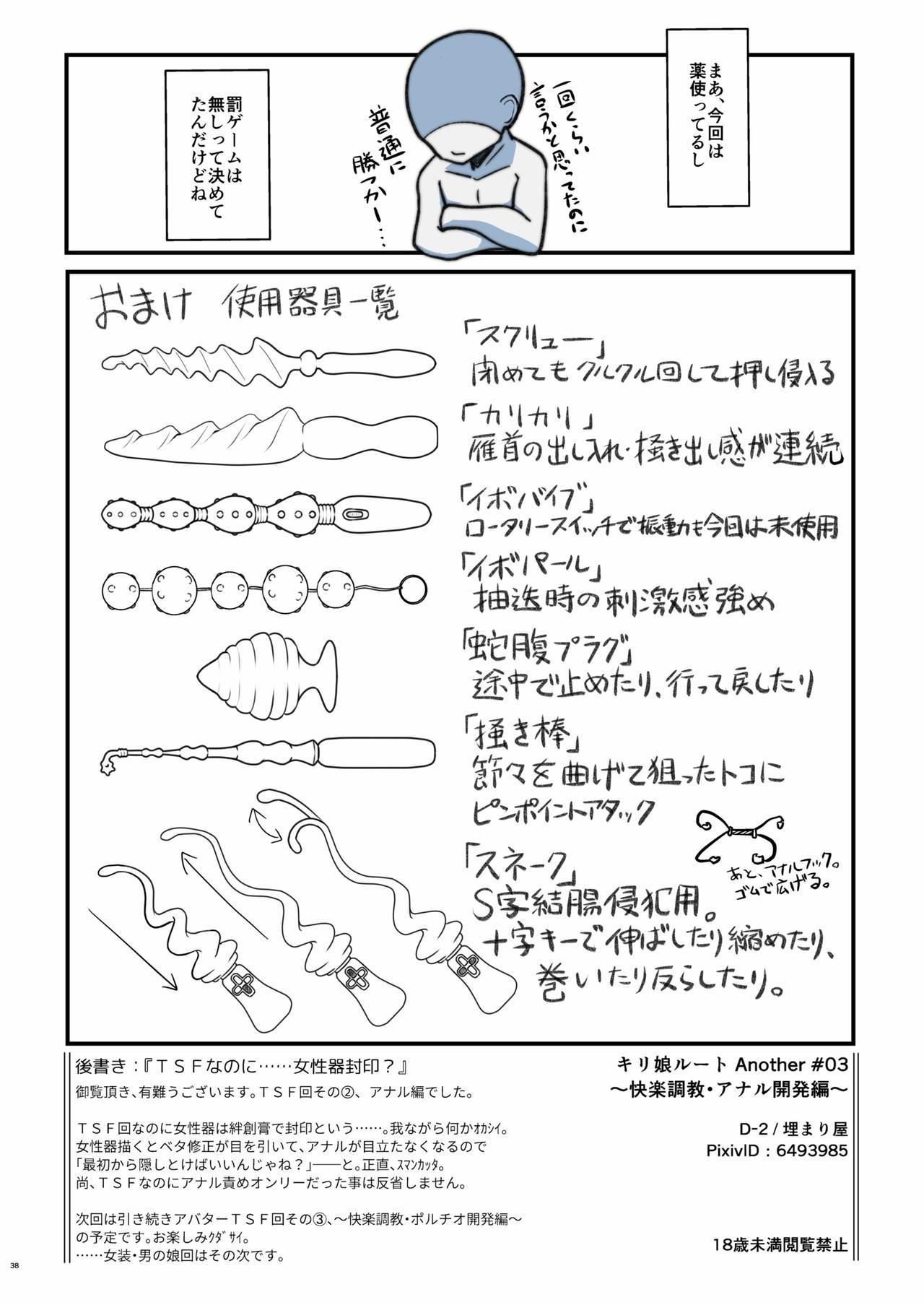 Kiriko Route Another A Part Set 100