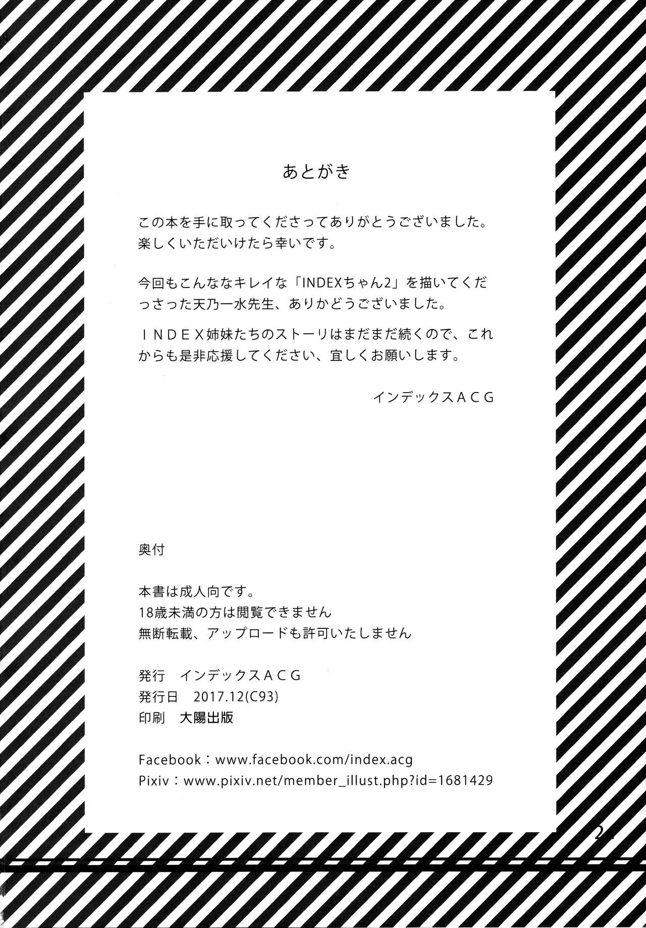 INDEXGIRLS 11 Index-chan no hageshii Mousou Yuukii 25
