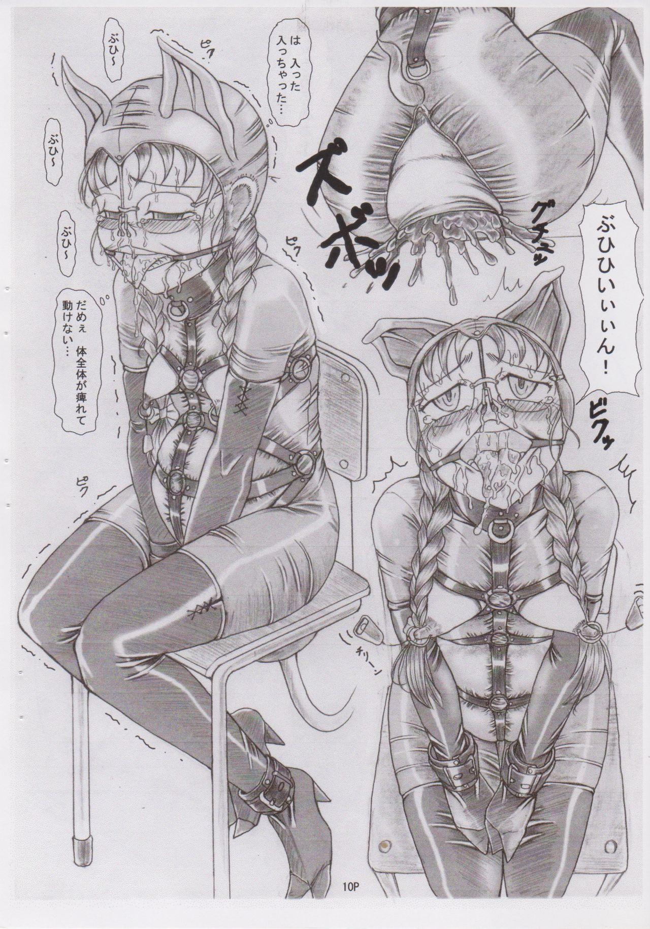 (C78) [Nekoneko Panchu! (Nekoneko Panchu)] Sanshimai Choukyou Yuugi [Yukari Hen] Yukari-chan no Butabana Kachiku Choukyou [Anal Higyaku Jugyou] 9